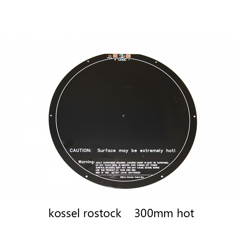 Round heatbed hot bed PCB delta 300mm for kossel delta 3D printer