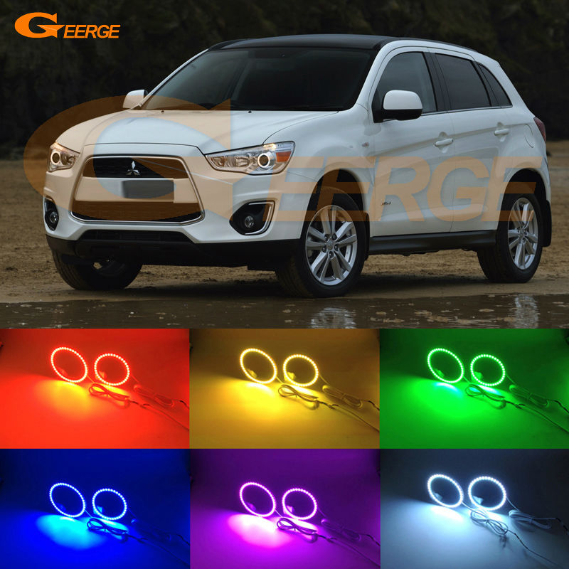 For Mitsubishi ASX 2010 2011 2012 2013 2014 2015 2016 Excellent Angel Eyes Multi-Color Ultra bright RGB LED Angel Eyes kit for lifan 620 solano 2008 2009 2010 2012 2013 2014 excellent angel eyes multi color ultra bright rgb led angel eyes kit