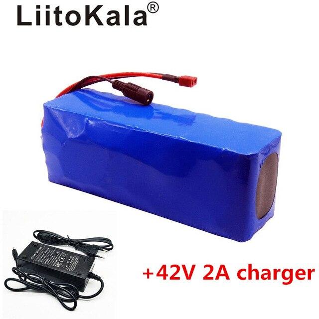 Liitokala 36 V 10AH vélo voiture électrique batterie scooter haute capacité batterie au lithium comprend le chargeur 42 v 2a