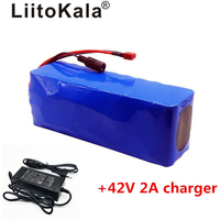 Liitokala 36V 10AH bike electric car battery scooter high capacity lithium battery include the 42v 2a charger