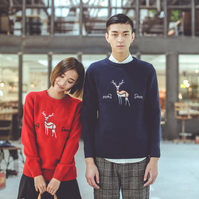 Couples Christmas Sweaters.Us 26 76 50 Off High Quality Christmas Sweater For Men And Women Couples Matching Christmas Sweaters For Lovers Couple Christmas Deer Sweaters In