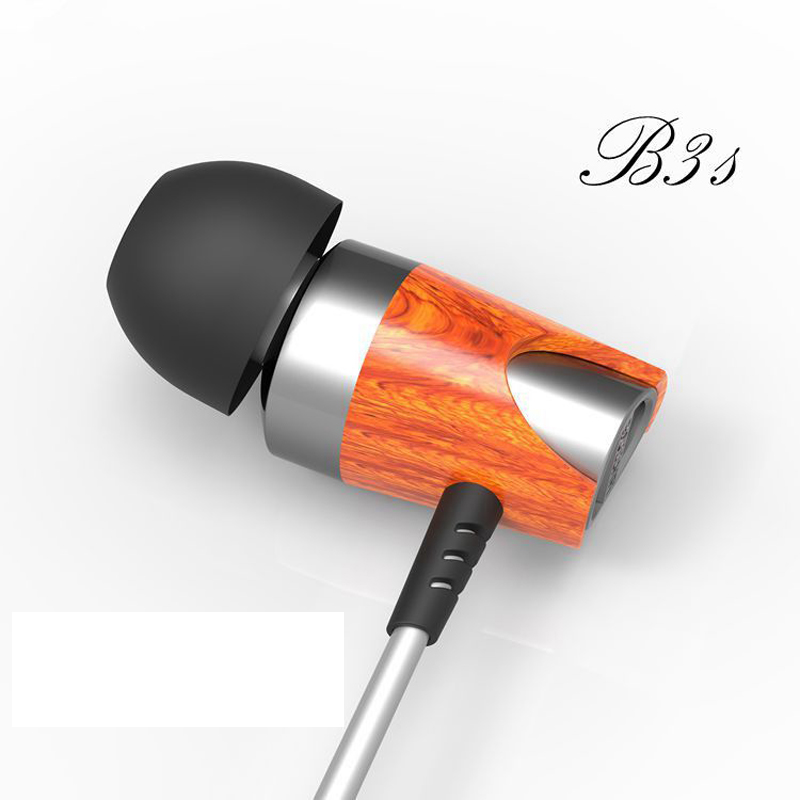 Blon BOSSHIFI B3s Dynamic and Armature 2 unit Wood Earbuds HIFI Red Wooden Moving Iron&Coil In Ear Earphone B3S Wooden Headset