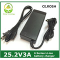 25.2v3a 25.2V 3Alithium li-ion battery charger for 6 Series 21.6V 22.2V 24V lithium li-ion Li-polymer battery pack good quality