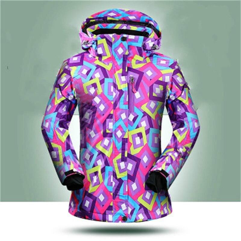 Promotion!! Femmes Ski Veste Hiver Froid En Plein Air Femelle Ski de Snowboard Vestes 10000mm Étanche Femmes Manteaux Vêtements De Neige