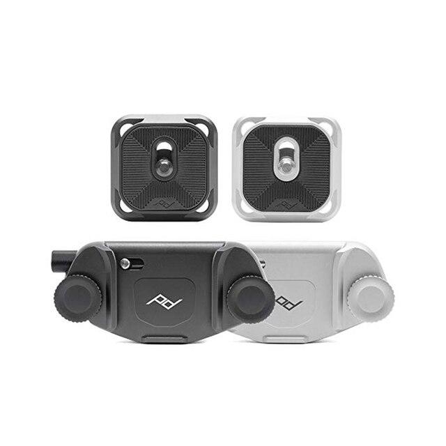 Design de pico captura v3 cinto fivela liberação rápida botão montagem cinta esperar gancho clipe montagem para câmera dslr micro câmera