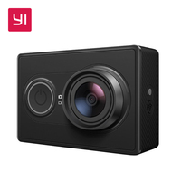 YI 1080P Action Camera Black International Version 16.0MP 155 degree Ultra-wide Angle Mini Sports Camera 3D Noise Reduction WiFi