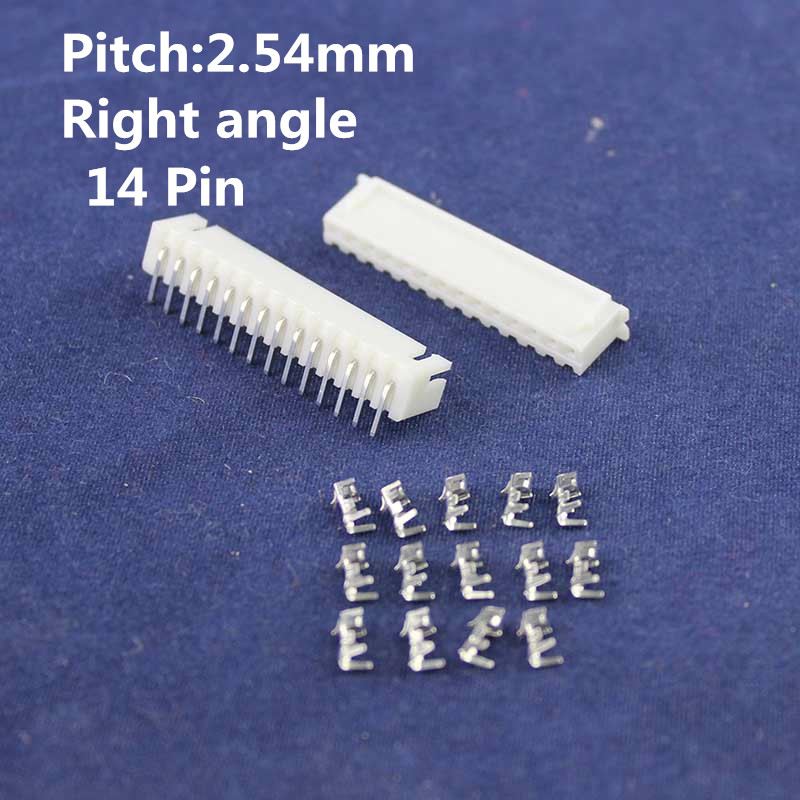20 sets 14pin Right angle 2.54mm Pitch Terminal / Housing / Pin Header Connector Wire Connectors Adaptor XH-14P Kits