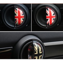 цена на 2pcs 3D Crystal Epoxy Car Interior Pull Handle Sticker For BMW MINI COOPER R56 R55 R60 R61 Countryman F55 F56 F60 Car Styling