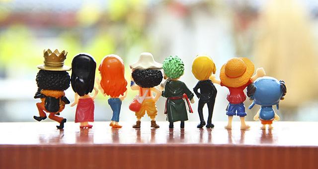 One Piece 3-4.5cm PVC Anime Action Figure 8pcs/set Toys