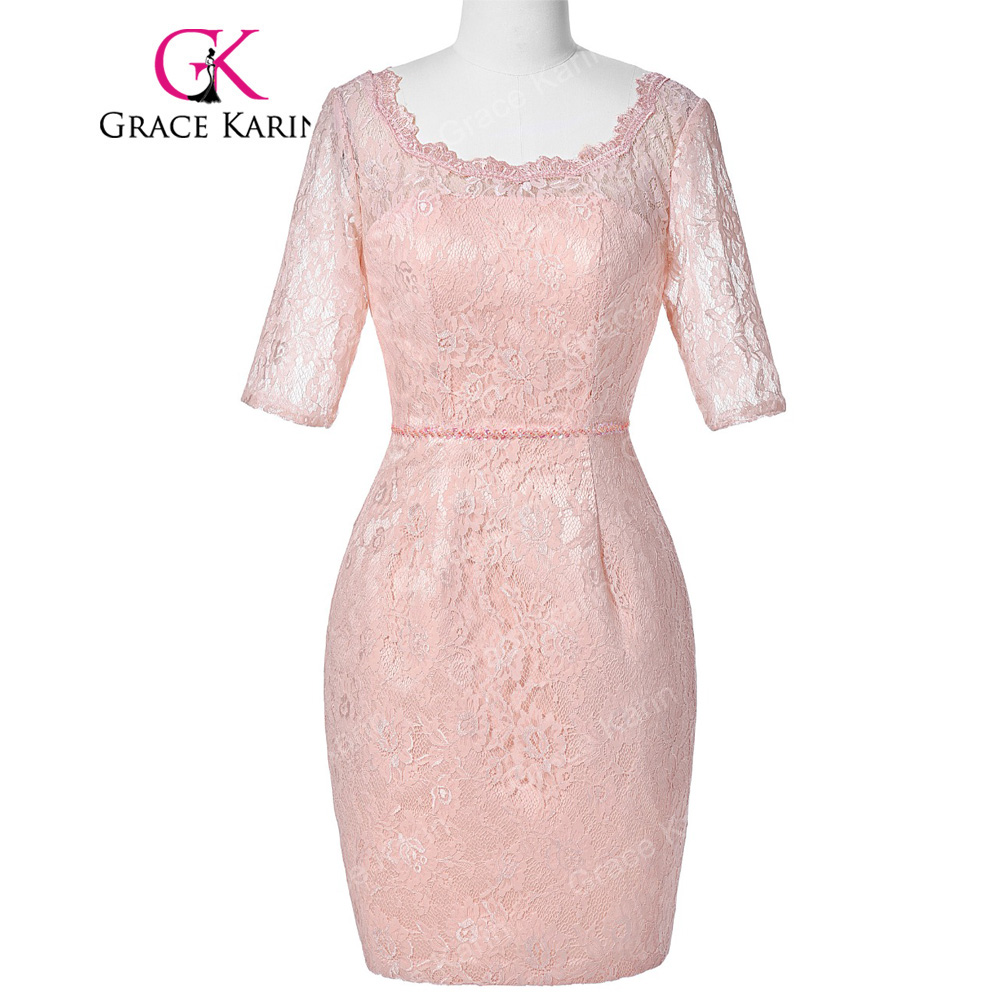 Grace Karin Cocktailkleid Half Sleeve Short Cocktail Dresses With ...
