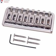 8 String Fast Type Bridge Sadel For Elektriske Guitar Dele m / Skrue Skrue Farve Sølv