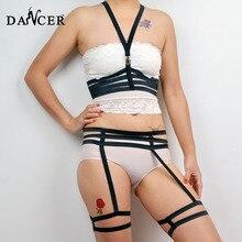 sexy body bondage inspired harness crop top black elasticity cage fetish gothic harajuku glamour 2015 new wedding dress bra set