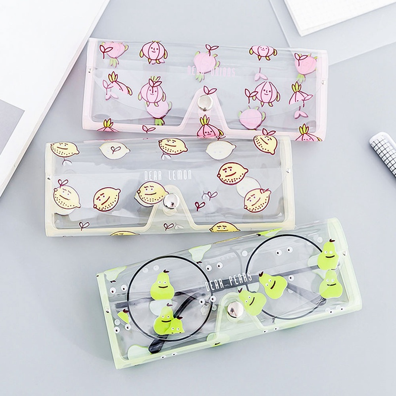 2b70b5cfbe4 Clear Crystal Eyeglass Glasses Spectacle Case Plastic Transparent Hot  Cartoon Box Holder