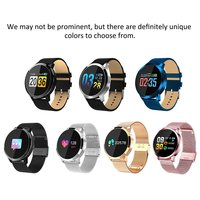 ONLENY Q8 Smart Watch OLED Color Screen Smartwatch women Fashion Fitness Tracker Heart Rate monitor