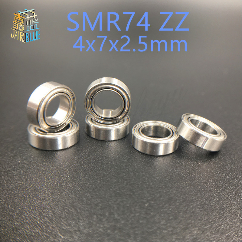 Free shipping 6 PCS SMR74ZZ Bearing 4x7x2.5 Stainless Steel Shielded Miniature Ball Bearings DDL-740ZZ S674ZZ B674ZZ WA674ZZ free shipping 684zz bearing 50pcs 4x9x4mm miniature 684 z ball bearings 618 4zz metal shielded 4mm shaft ball bearing