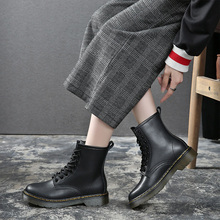 AME Shoes Winter Ankle Boots Women Boots Fashion Martin Boots Women Black Round Toe Lace-Up Women Shoes Female Boots YHA009 цена