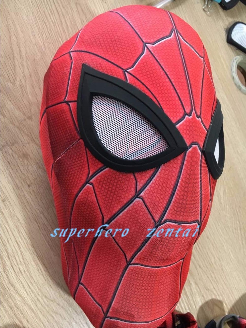 Лидер продаж Железный Человек-паук костюм спандекс Человек-паук Костюмы для косплея Fullbody взрослых Аниме супергерой Зентаи Костюм Бесплатн...