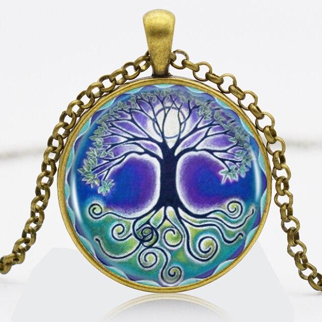 Strength Symbol Tree Of Life Logo Bronze Chain Women Choker