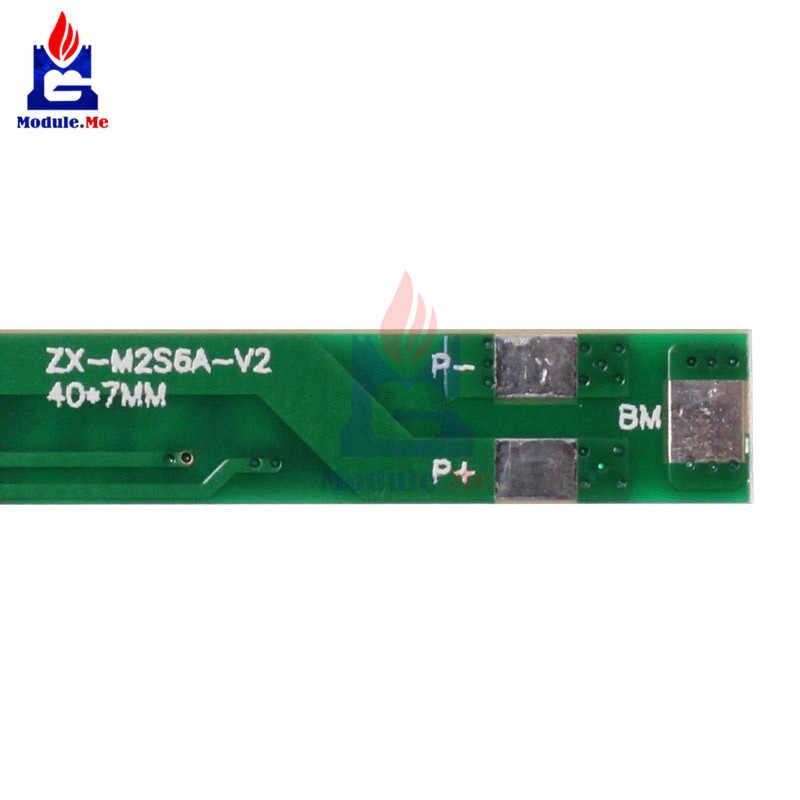 NEW 6A 7.2 V 2 S Kép MOS Polymer Lithium Pin Bảo Vệ Bảo Vệ Đun Ban Đối Với 2 Pcs 18650 Pin