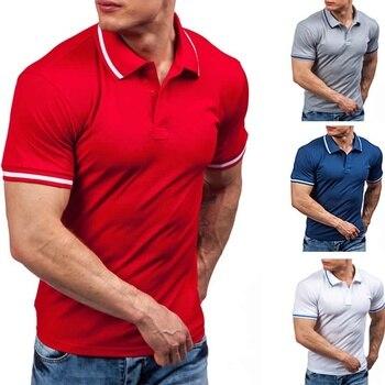 5cad0bcbf326c94 Product Offer. ZOGAA Лето Новинка 2019 модная брендовая мужская рубашка  поло Однотонная рубашка с коротким рукавом ...