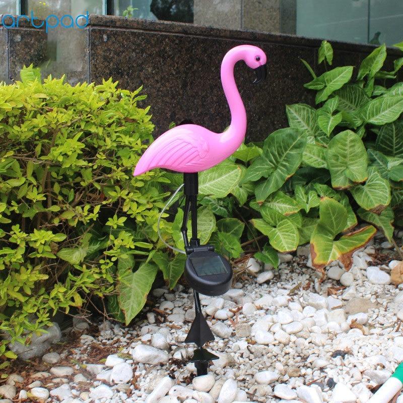Solar Power Outdoor Garden Flamingo LED Animal Light Up Path Ornament Decoration