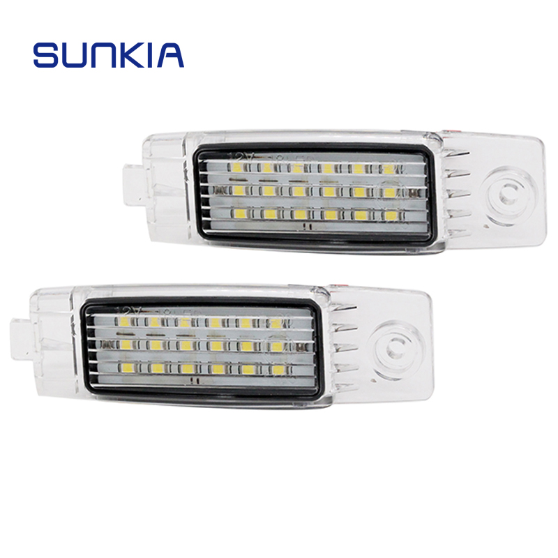 2x SUNKIA Car LED License Plate Lights with Inside Canbus for <font><b>Toyota</b></font> Harrier/<font><b>Highlander</b></font>/Land Cruiser/RAV 4 Back Number Lamp image