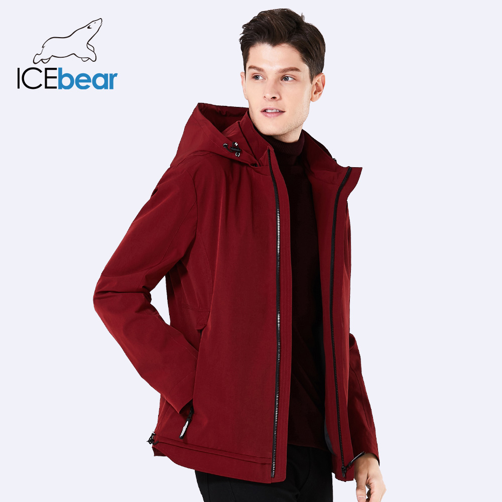 2018 new spring men's casual hooded High-quality men jacket short loose man coat brand spring coats with zippers MWF18099D 2018 brand new spring