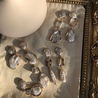 Baroque irregular pearl earrings gold dangle pearl earrings vintage retro women earrings trendy bohemians drop earrings