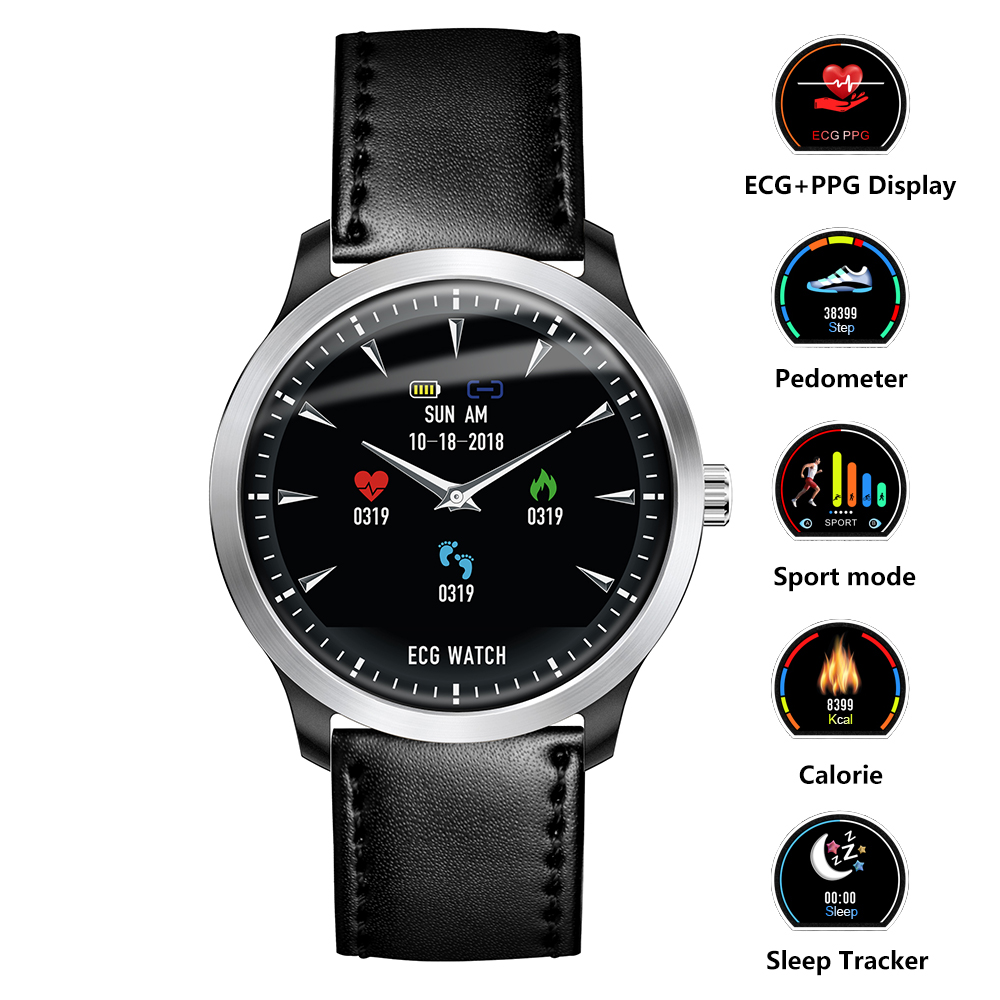 Smart Watch Fitness Smart Watch ECG PPG Heart Rate Monitor Blood Pressure Smartwatch for Samsung Xiami