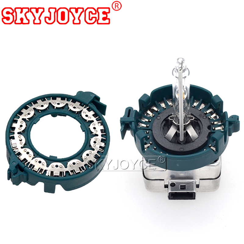 SKYJOYCE 2pcs D1s D2s D3s D4s Xenon Adapter Holder Green Hid Bulb D1S D2S Adapter Holder Base HID Xenon Bulb Conversion Adapter