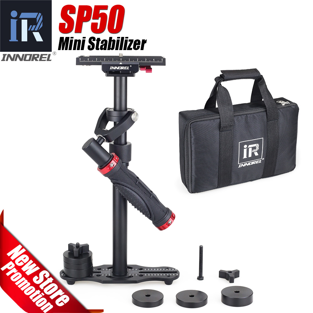 SP50 mini handheld camera stabilizer DSLR video steadicam steadycam for Nikon Canon 5D3 5D4 Sony VS S40 S60 Free shipping free shipping dhl ems s40 new camera monopod tripod shooting stabilizer for canon 5d3 60d 750d for nikon d90 d850 gopro