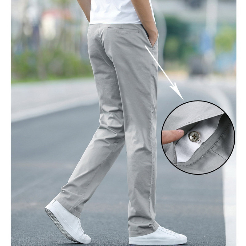 Image 4 - LOMAIYI Plus Size Men Pants Casual Spring/Summer Stretch Men's Classic Trousers Male 2019 Business Black/Khaki Pants Man BM221-in Casual Pants from Men's Clothing