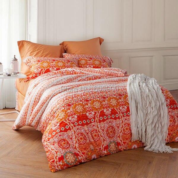 Marokkanischen Bettwäsche Orange Böhmischen Und Boho Stil 100