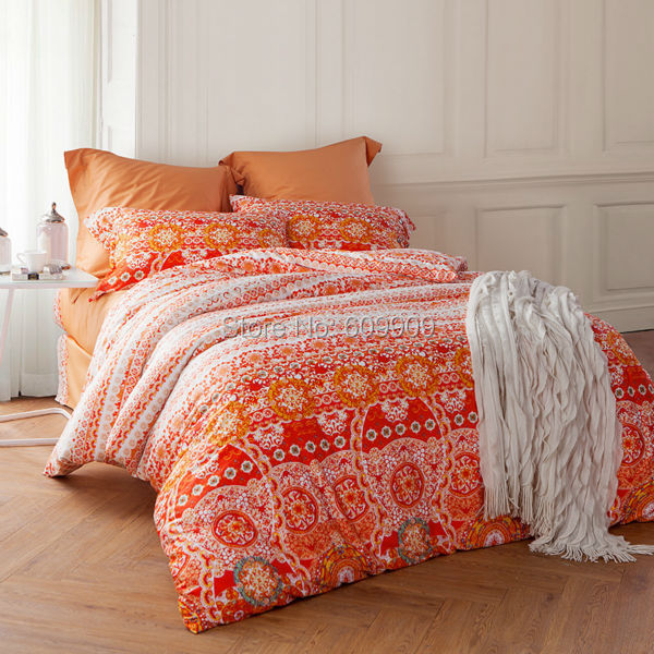 Aliexpress Com Buy Moroccan Bedding Orange Bohemian And
