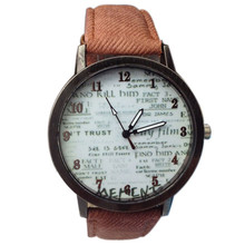 Cowboy Fabric Band Wrist Watch