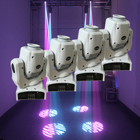 4pcs/lot 60W LED Moving Head Spot Light Led DJ Moving Head Beam Lighting Equipment DMX512 60w Gobo Moving Heads with White Shell