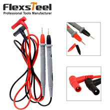 Flexsteel 1000V 10A Universal Digital Multimeter Lead Probe Multi Meter Test Wire Pen Set Cable Needle Tip Probe 1 pair universal probe test leads 20a 1000v needle tip multi meter digital multimeter lead probe wire pen cable