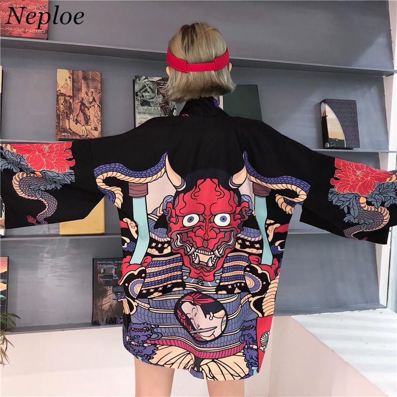 HTB1 lI3nZyYBuNkSnfoq6AWgVXaN Neploe Korean Streetwear Harajuku Black Denim Jacket Oversized Pockets Women Jeans Jackets Loose BF Vintage Casual Coats 39106