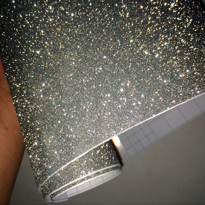 Luxury Car Styling Accessories Silve Car Body Film DIY Glitter Interior Stickers Diamond Shiny Vinyl Car Wrap For Car Home Use