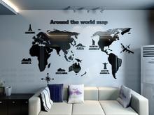 Здесь можно купить  New arrival World map Creative Household office Acrylic 3d three-dimensional wall stickers Living room bedroom decoration  Home Decor