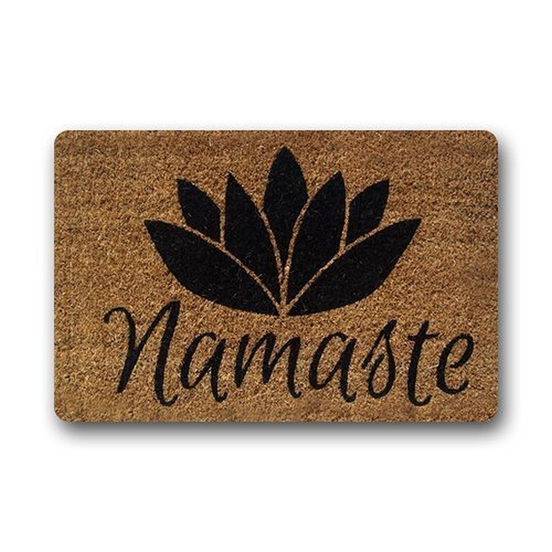 memory home custom personalize namaste coir indoor outdoor doormat rugs floor mat nonslip rectangle entryways carpet