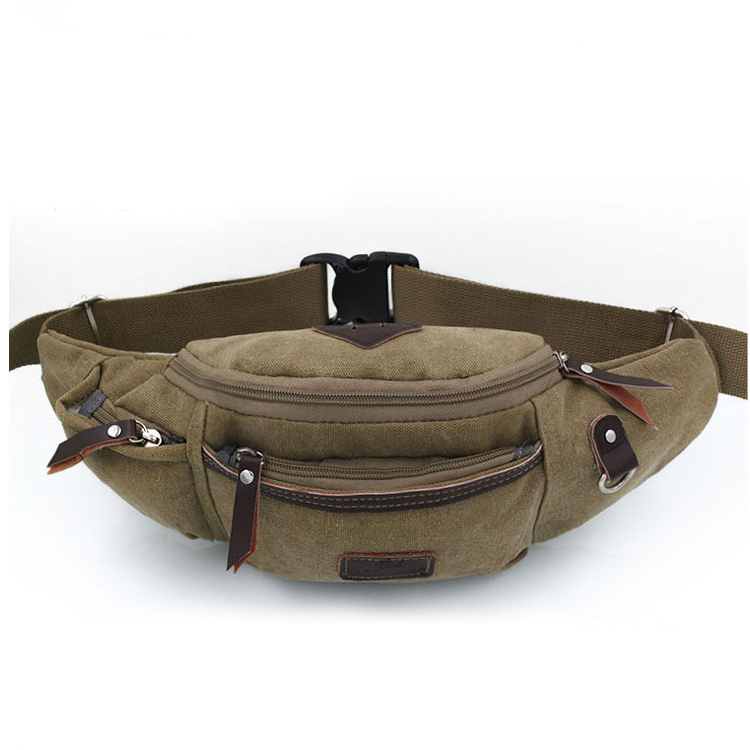 2016 men and women canvas pockets packet phone bag tide retro documents waist bags 1295