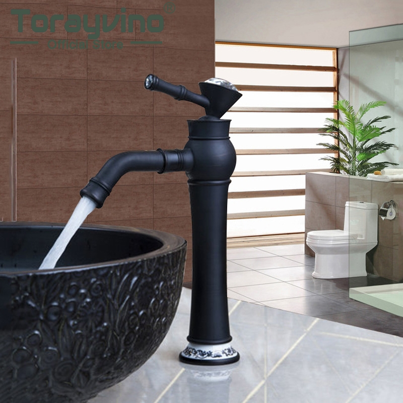 Bathroom Basin Faucets Oil Rubbed Bronze Single Handle Swivel Wash Sink Mixer Vessel Vanity Torneira Faucet Tap Black black oil rubbed brass single handle bathroom vessel sink basin mixer tap faucet cnf227