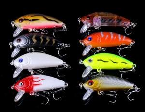 Image 5 - 56pcs/set Fishing Lures Mixed Color Size Hard Bass Baits Artificial Crankbait Treble Hook Trout Tackle Lure Fish Artificial Bait
