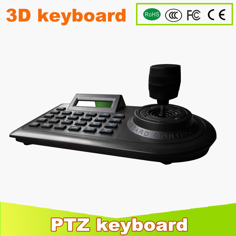 YUNSYE 3D PTZ CCTV keyboard Controller Joystick for RS485 PTZ Speed dome camera Bracket Support Pelco-D / P protocol 3 Axis free shipping mini cctv joystick keyboard controller for security pan tilt zoom ptz speed dome camera support pelco p d protocol