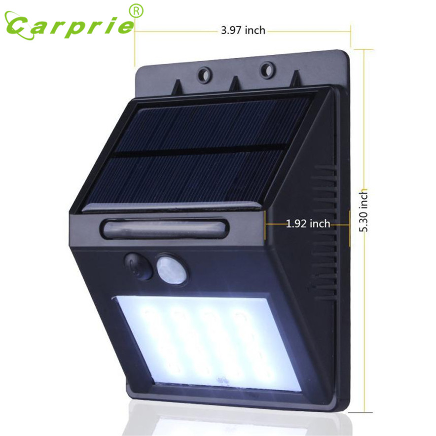 CARPRIE Solar Lamp 20 LED Solar Power PIR Motion Sensor Wall Light Outdoor Garden Waterproof Lamp