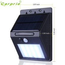 CARPRIE Solar Lamp  20 LED Solar Power PIR Motion Sensor Wall Light Outdoor Garden Waterproof Lamp  l70307