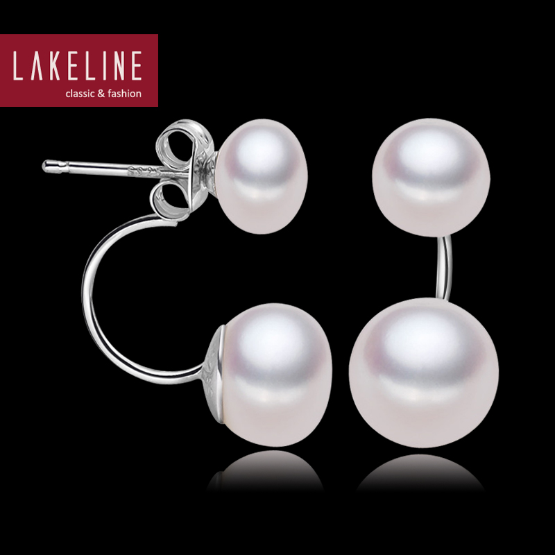 Double Side Pearl Earrings High Er Genuine Freshwater Earring Brand Stud