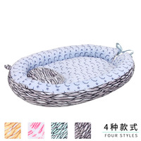 New Baby Nest Bed Crib Portable Removable And Washable Crib Travel Bed For Children Infant Kids Cotton Plush Baby Bed