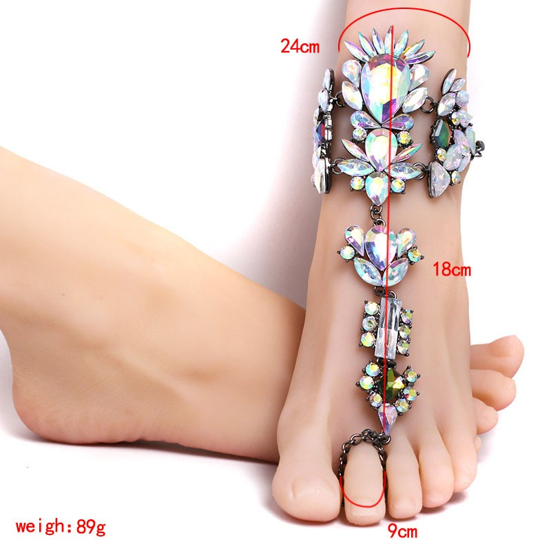 21s017 Ankle Bracelet Wedding Barefoot Sandals Beach Foot Jewelry Sexy Pie Leg  Chain Female Boho Crystal Ankletthe price just for one pcs 7791b7ad1b4a